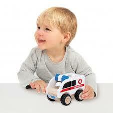 Mini Vehicle Wooden | Wonderworld - Mini Ambulance