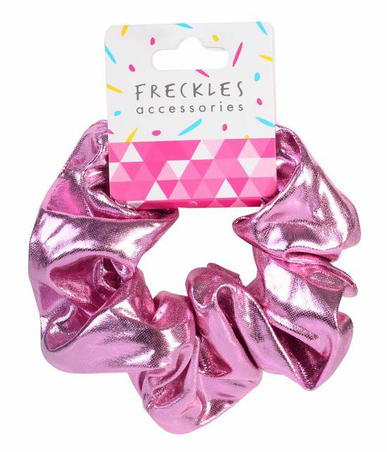 Metallic Pink Scrunchie - Freckles