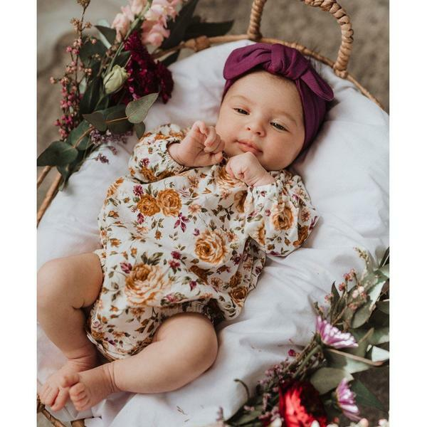 Snuggle Hunny | Mulberry Topknot Headband