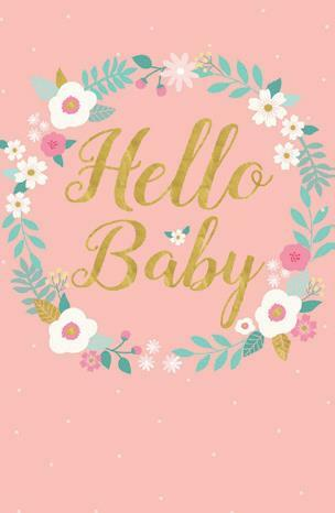 Card Caption Hello Baby | girl