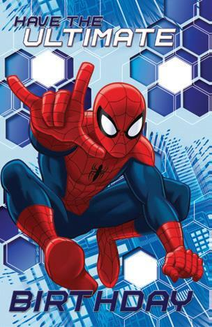 Card | Disney Ultimate Spiderman Birthday Boy - deluxe