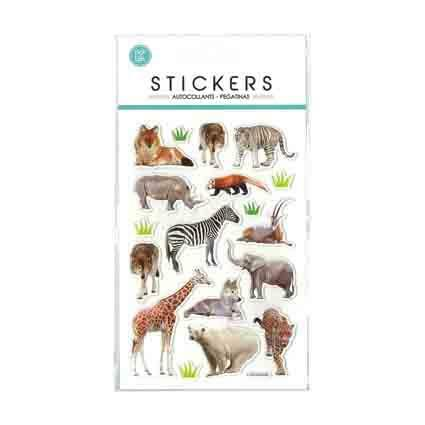 Stickers Wild Animals Puffy 105x190