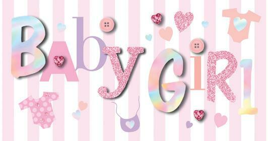 Card | Baby Girl Congratulations bling card