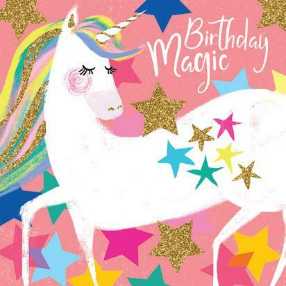 Birthday Card  | Birthday Magic - unicorn