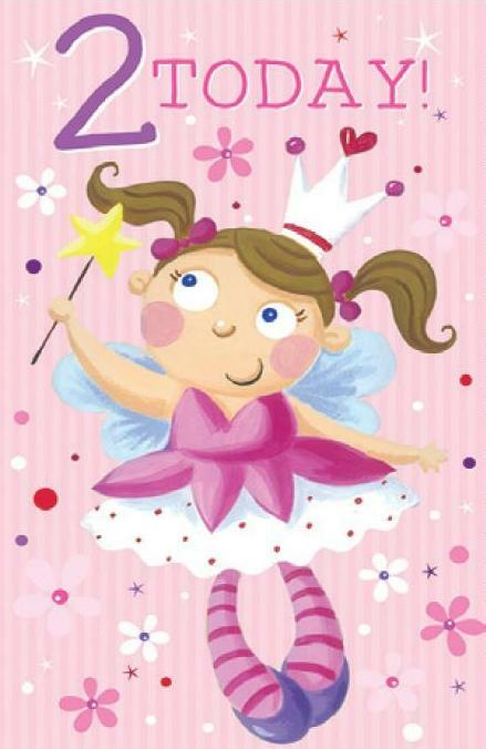 Card| Birthday Age 2 Female - Fairies