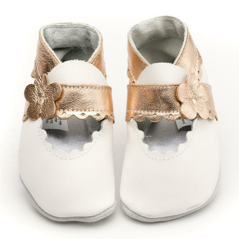 Pitter Patter | Mary Jane - White/Rose Gold