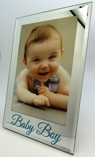 Baby Boy Photo Frame Silver Glass Frame
