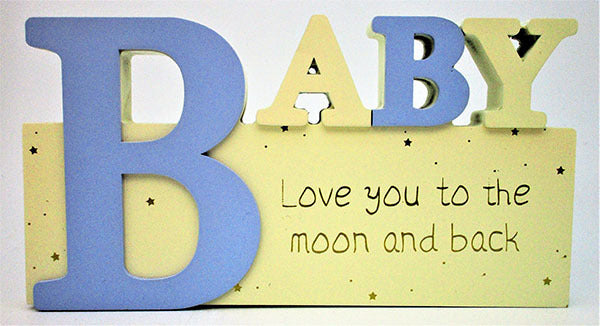 Baby Sign - Blue | Wooden