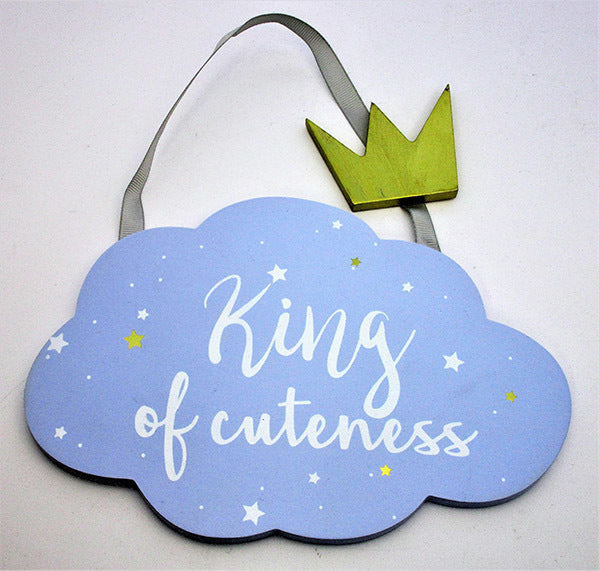 King of Cuteness - Wooden plaque