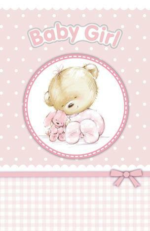 Gorgeous New Arrival Baby Girl Card | DELUXE CARD $3