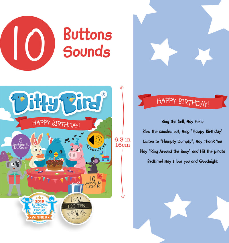 Ditty Bird | Happy Birthday Sound Book