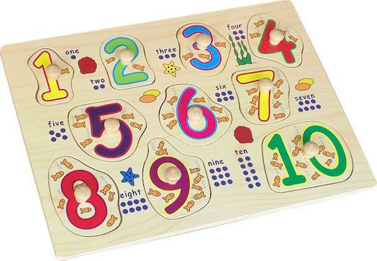Wooden Peg Puzzle - Numbers