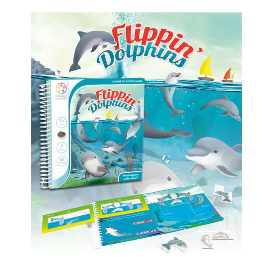 Flippin' Dolphins Magnetic Travel Game