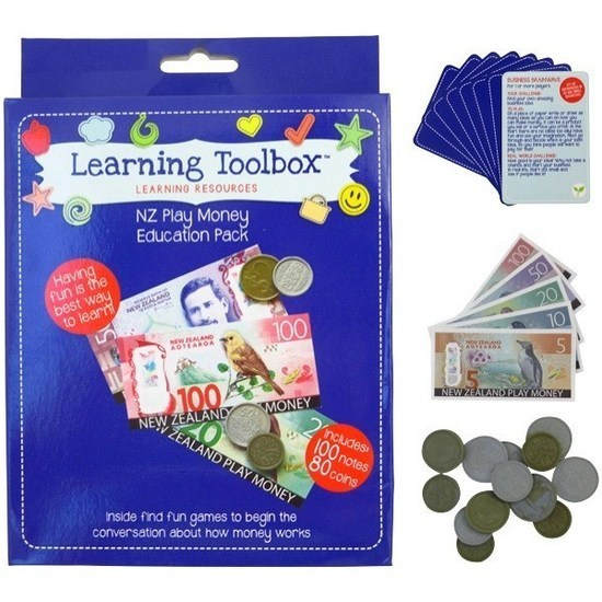 Learning Toolbox NZ Play Money Education pack