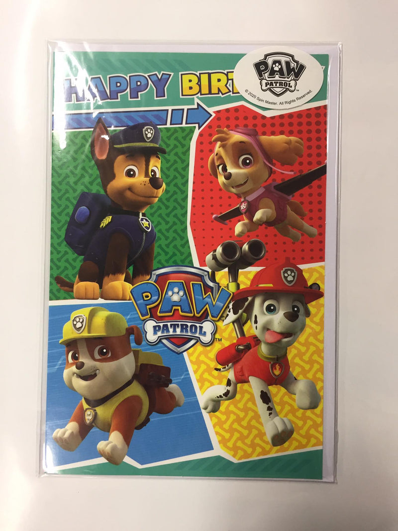 Happy Birthday Paw Patrol Card