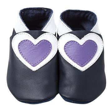Pitter Patter | Heart - Navy/White/Lilac