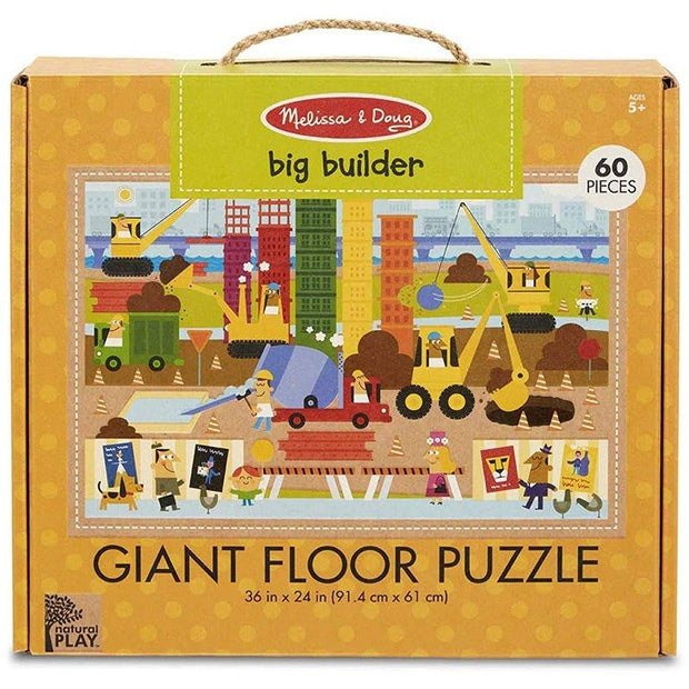 Melissa & Doug |  Giant Floor Puzzle Big Builder (60pc