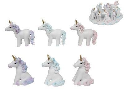Glitter 10cm Unicorn figurines