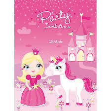 Art Wrap | Princess Pony Party Invitations 20 Sheets