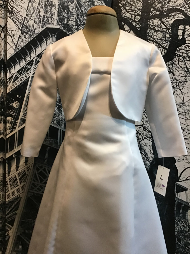 Bamboo | Children's Wear White satin Bolero Jacket