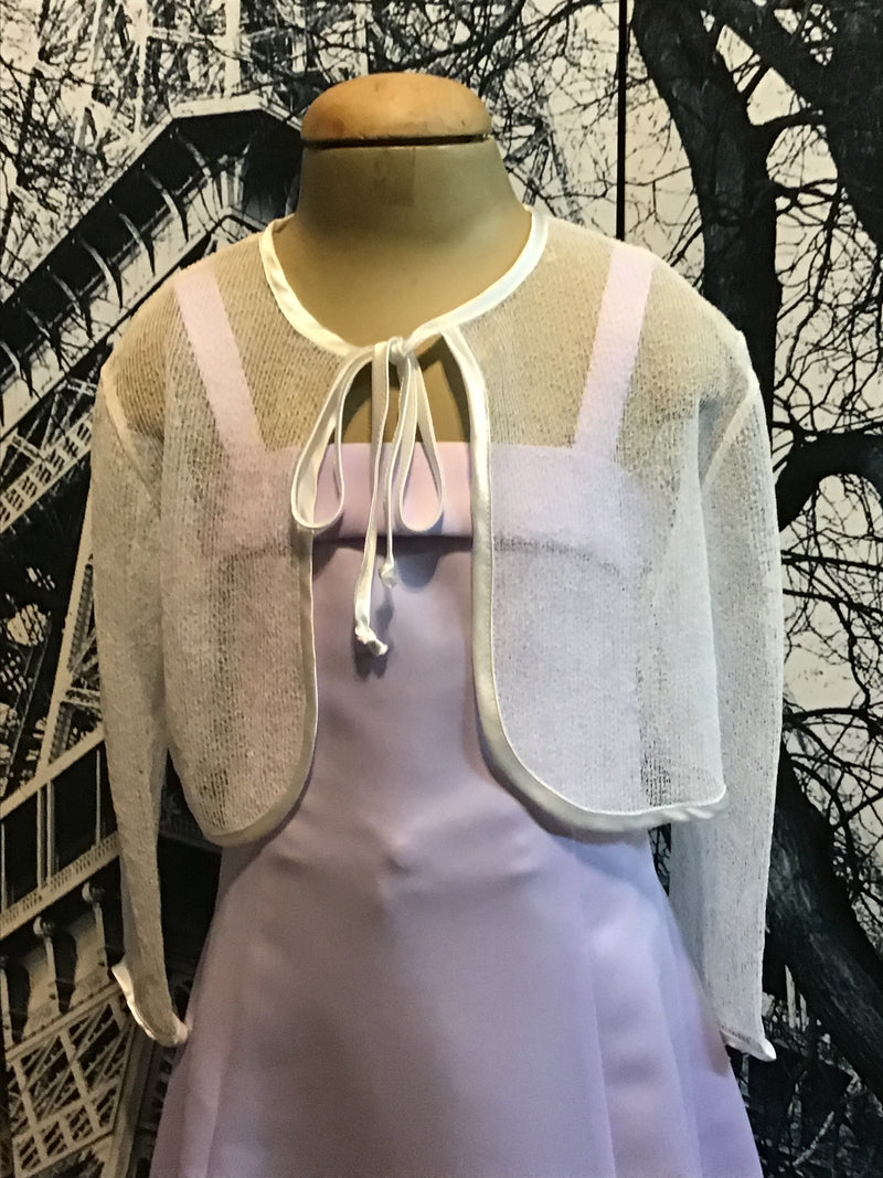 Bamboo | Children's Wear white Mesh Bolero Jacket