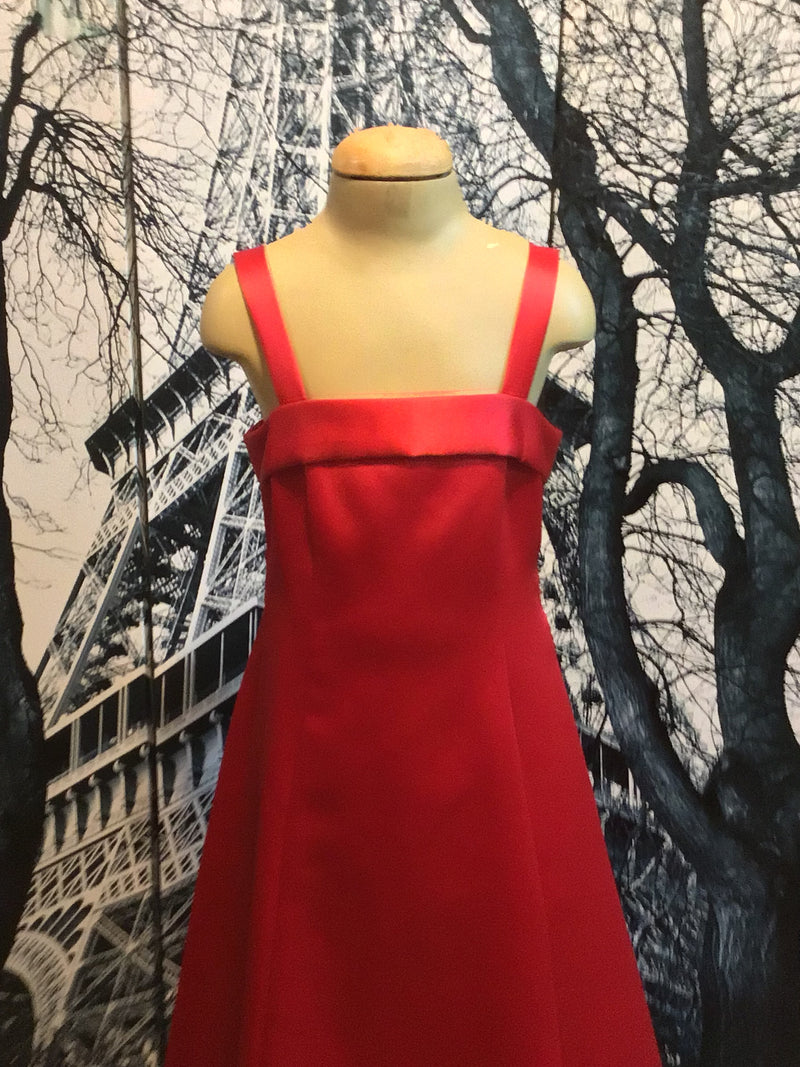 Bamboo | Wear Girls bright Red Long Formal Dress Style 1003