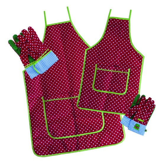 Glove and apron set