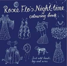 Rosie Flo's Night-time Colouring Book - navy