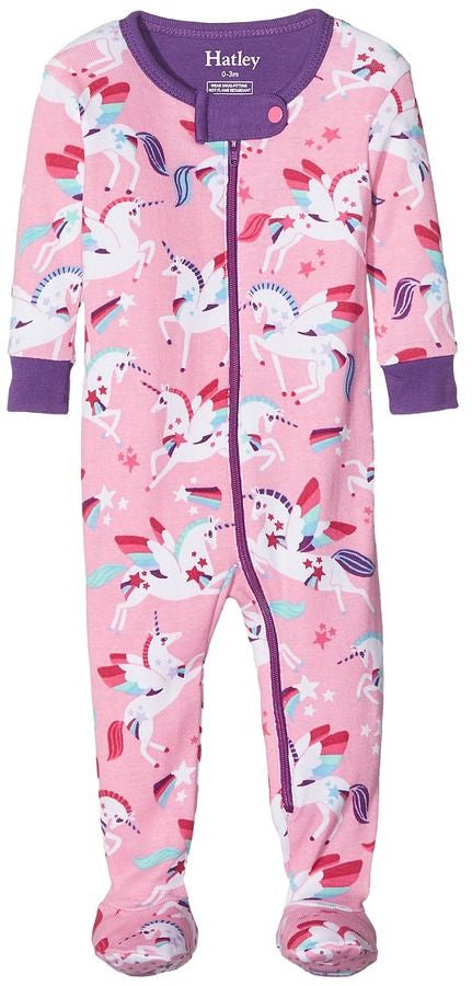 Hatley |Baby Girls Winged Unicorns Footed Coverall
