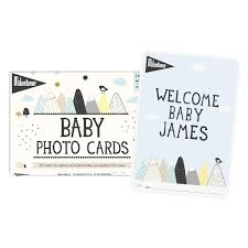 Over the moon MILESTONE BABY CARDS