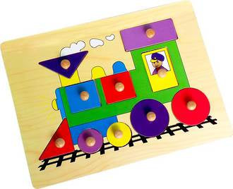 Wooden Peg Puzzle - Train