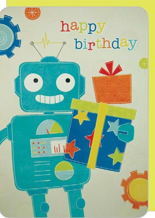 COUTURE BOY/ROBOT BIRTHDAY DELUXE CARD