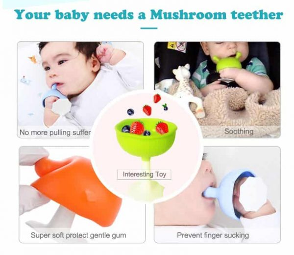 Mombella | Mushroom Soothing Teether