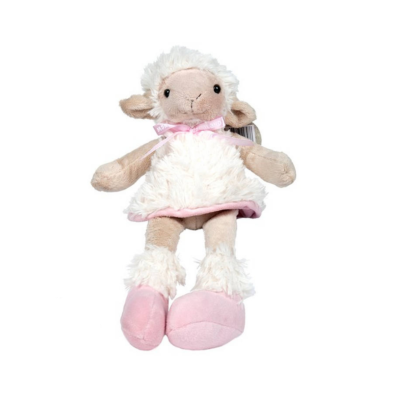 Sheep Sitting with Pink Dress