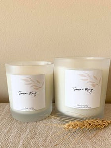 XL - Summer Mango Scented - Handcrafted Coco Soy Candle.