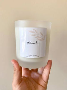 Large - Watermelon Scented - Handcrafted Coco Soy Candle.