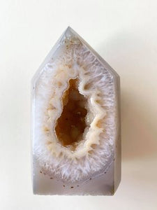Druzy Agate Tower