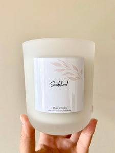 XL - Sandalwood Scented - Handcrafted Coco Soy Candle.