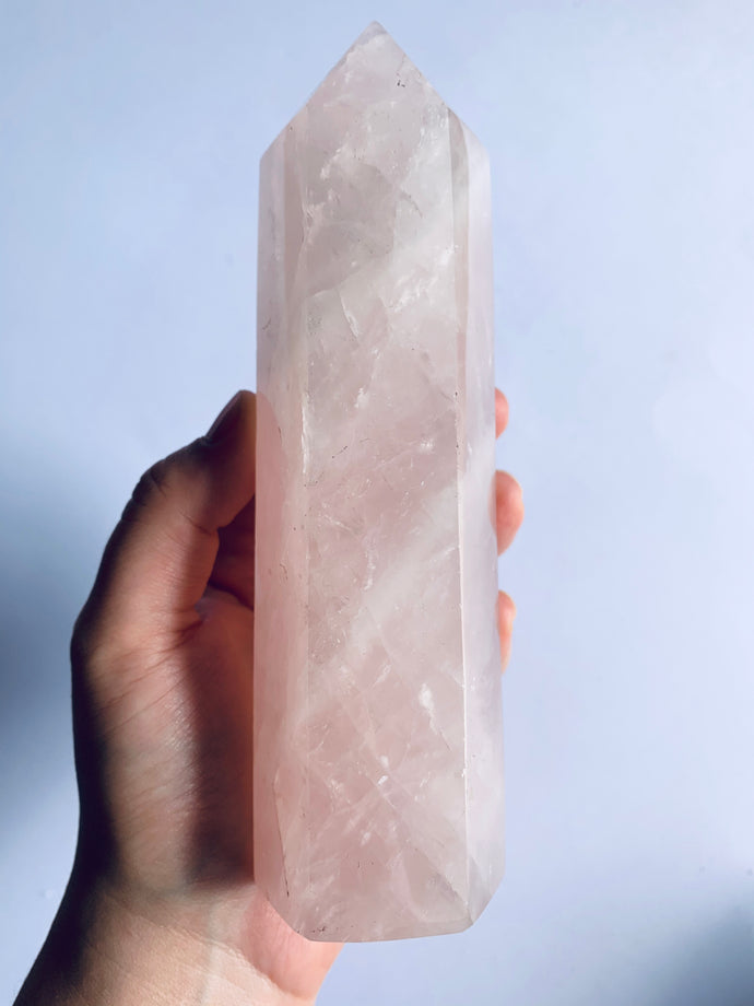 HUGE Rose Quartz Tower