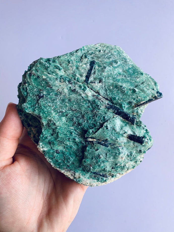 Natural Green Fuchsite with Blue Kyanite