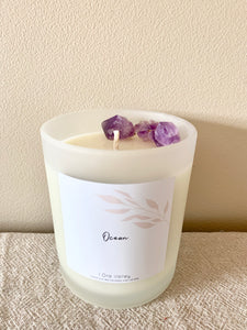 Large - Vanilla Caramel Scented - Handcrafted Coco Soy Candle.