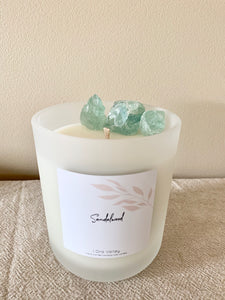 XL - Champagne & Strawberries Scented - Handcrafted Coco Soy Candle.