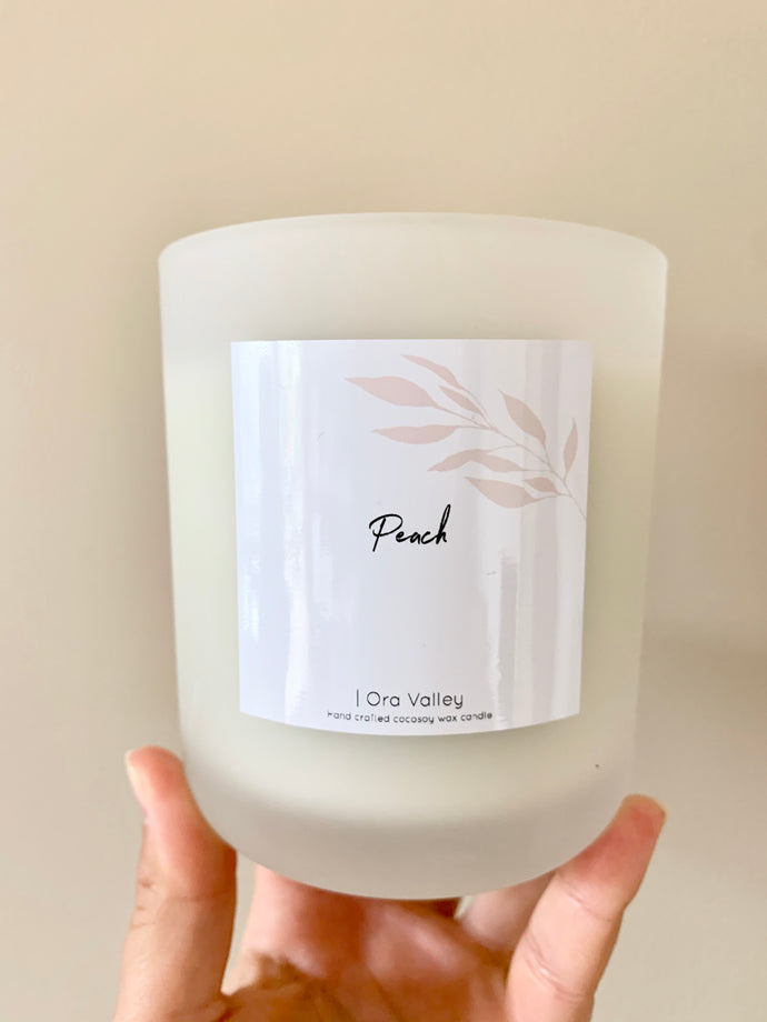 XL - Peach Scented - Handcrafted Coco Soy Candle.