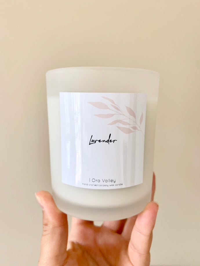 Large - Lavender Scented - Handcrafted Coco Soy Candle.