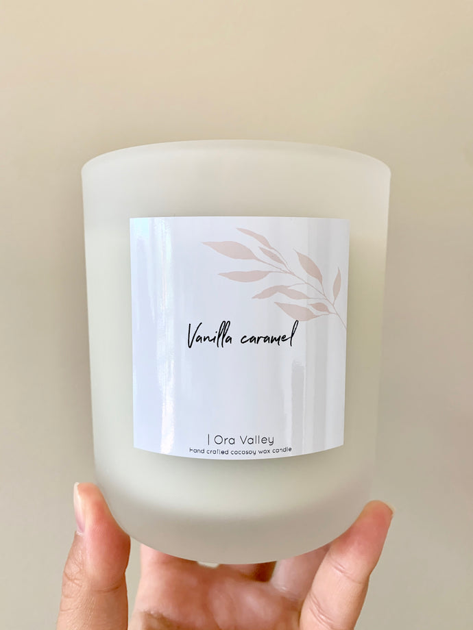 XL - Vanilla Caramel Scented - Handcrafted Coco Soy Candle.