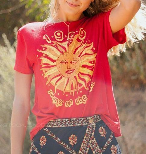 Women's Sunflower Retro T-shirt