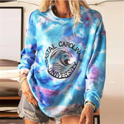 Women'S Casual Round Neck Loose Long Sleeve Printing Sweatshirt