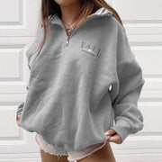 Women's Casual Standing Collar Loose Sweatshirts