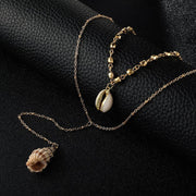 Woman Bohemian Simple Shell Conch Multilayer Necklace