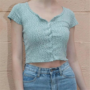 Zelly Ruffle Crop Top